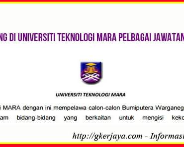 Jobs Vacancies at University Teknologi Mara