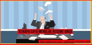 Kenapa saya Menolak resume anda