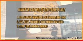 Teh Tarik Place Aman Central Mall Jawatan Kosong