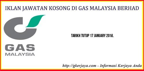 Iklan Kerjaya di Gas Malaysia Berhad