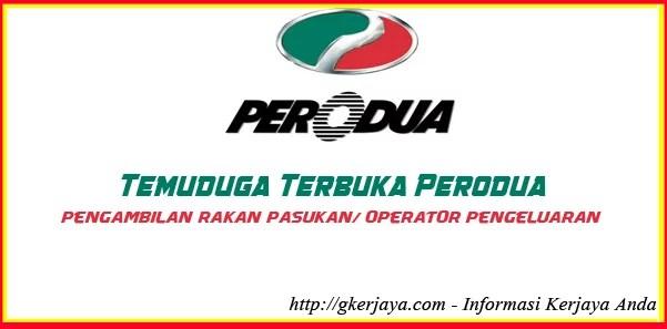 Walk In Interview Perodua Anjuran Jobsmalaysia