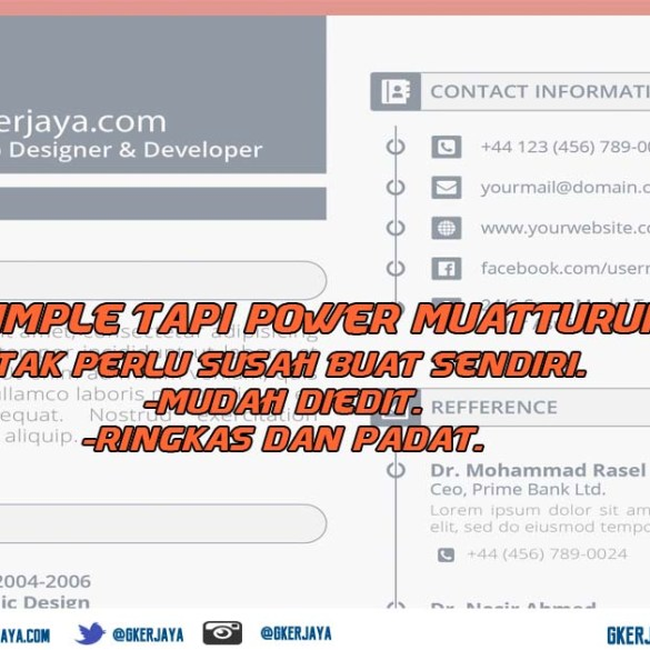 Free Resume Templates Simple dan Mudah
