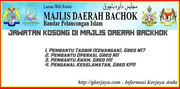 Jawatan Kosong Majlis Daerah Bachok Kelantan