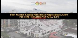 Iklan jawatan Kosong Perbadanan Perpustakaan Awam Negeri Kedah