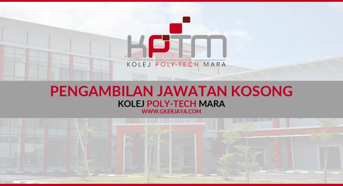 Jawatan Kosong terkini Kolej Poly-Tech Mara Pahang