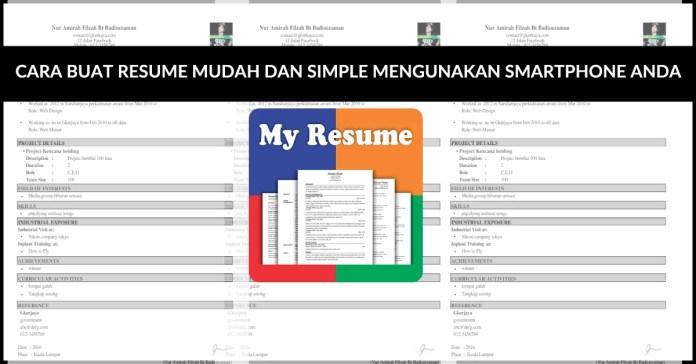 Buat Resume mengunakan Smartphone anda