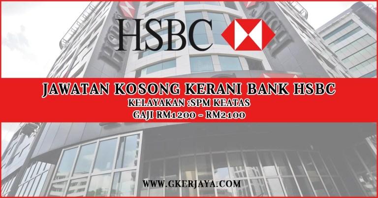Jawatan Kosong Kerani Bank HSBC
