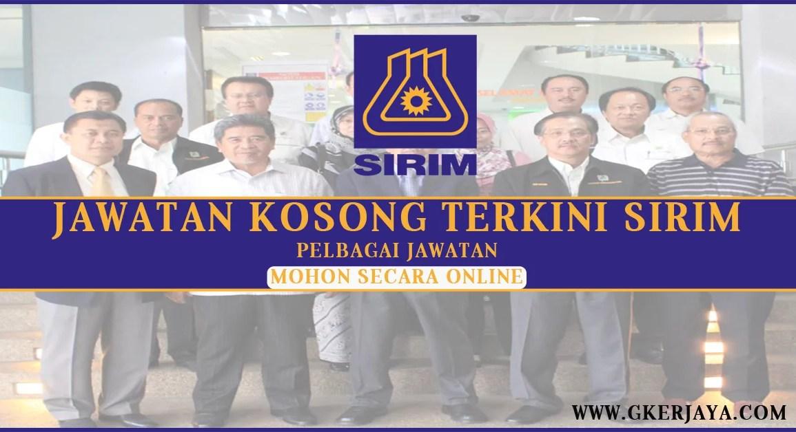 Jawatan Kosong Terkini SIRIM 2016