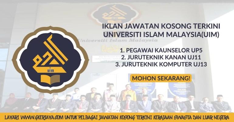 Iklan Jawatan Kosong Terkini Universiti Islam Malaysia (UIM)