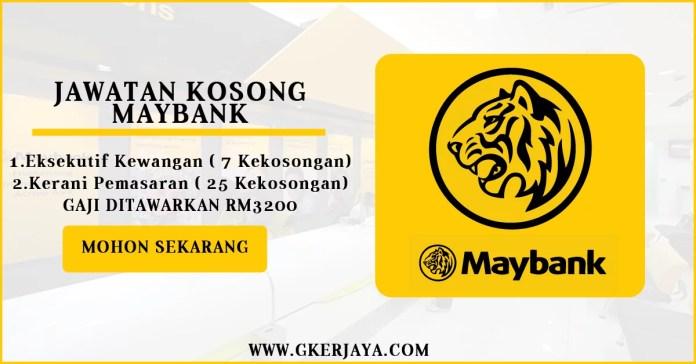 Jawatan Kosong Terkini Maybank 2016