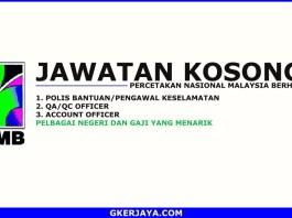 Iklan jawatan kosong Percetakan Nasional Malaysia Berhad