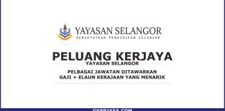 Iklan kerjaya Yayasan Selangor