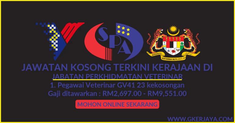 Jawatan Kosong Kerajaan Pegawai Veterinar GV41