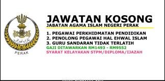 Jawatan Kosong Negeri Perak Terkini 2017