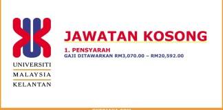 Jawatan Kosong Pensyarah Universiti Malaysia Kelantan