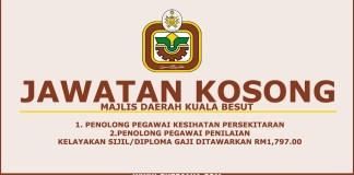 Jawatan Kosong Terkini Majlis Daerah BesutJawatan Kosong Terkini Majlis Daerah Besut