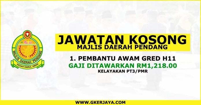Jawatan kosong Kedah Majlis Daerah Pendang