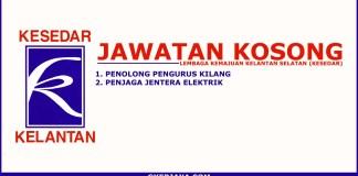 Jawatan kosong Lembaga Kemajuan Kelantan Selatan
