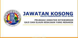 Jawatan kosong Majlis Perbandaran Teluk Intan terkini