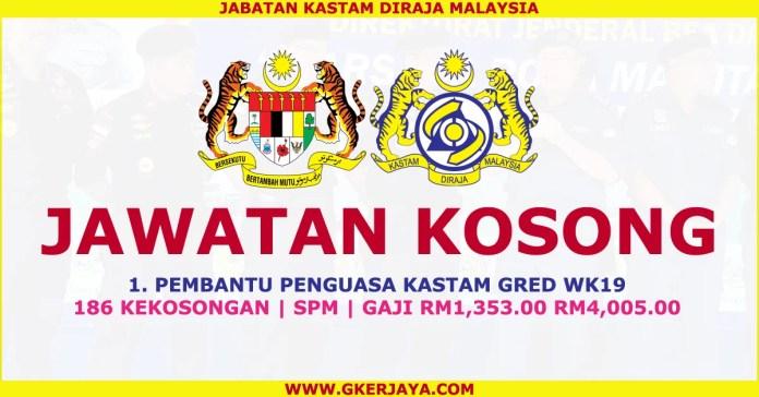 Jawatan kosong Terkini Jabatan Kastam diraja Malaysia