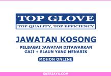 Jawatan kosong Top Glove Corporation Berhad
