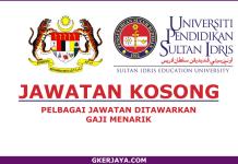 Jawatan kosong UPSI Terkini