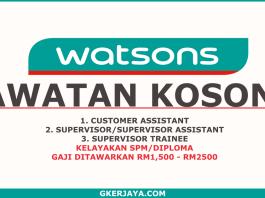 Jawatan kosong Watsons Personal Care Stores