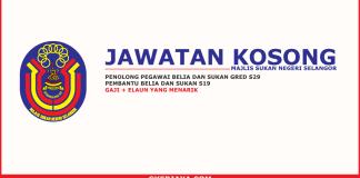 Jawatan kosong terkini Majlis Sukan Negeri Selangor
