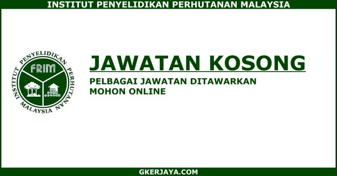 Jawatan terkini di Institut Penyelidikan Perhutanan Malaysia