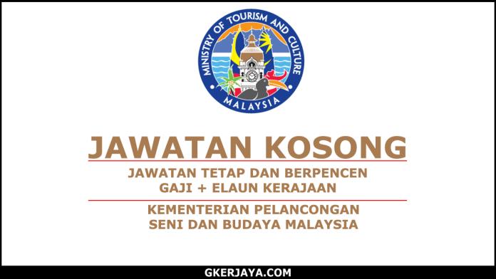 Kerja Kosong Kementerian Pelancongan Seni Dan Budaya Malaysia