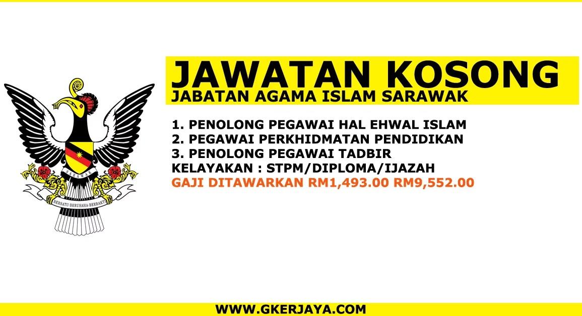 Kerja Kosong Kerajaan Sarawak Terkini permohonan online
