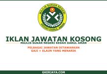 Kerja Kosong Majlis Sukan Negeri Kedah