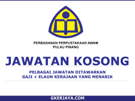 Kerja Kosong Perbadanan Pustakaan Awam Pulau Pinang