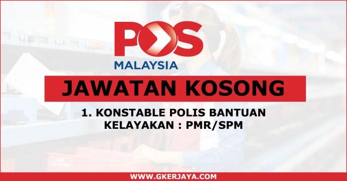 Kerja Kosong Polis bantuan Pos Malaysia
