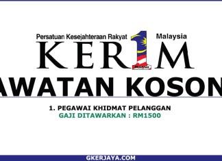 Kerja Kosong Terkini Persatuan Kesejahteraan Rakyat 1Malaysia