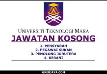 Kerja Kosong terkini UiTM Terengganu