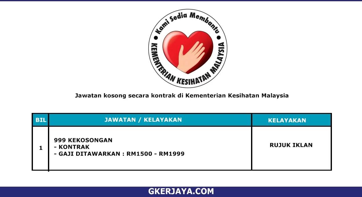 Kerja Terkini Kementerian Kesihatan Malaysia (1)
