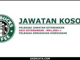 Kerja kosong Starbucks Coffee 2018