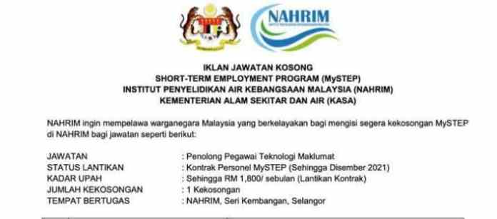 MySTEP National Water Research Institute of Malaysia