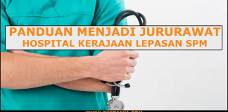 Panduan menjadi Jururawat hospital kerajaan lepasan SPM