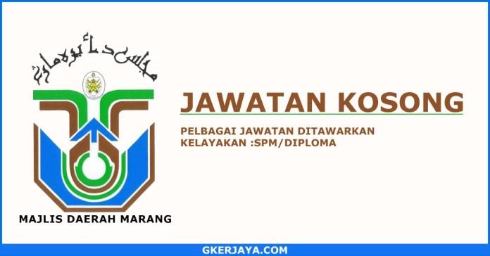Peluang kerjaya Majlis Daerah Marang