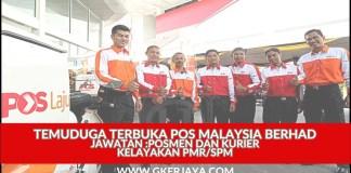 Temuduga Posmen dan Kurier Pos Malaysia Terkini
