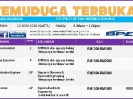 Temuduga Terbuka JobsMalaysia Centre UTC Melaka