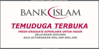 Temuduga terbuka Bank Islam Pelbagai Negeri
