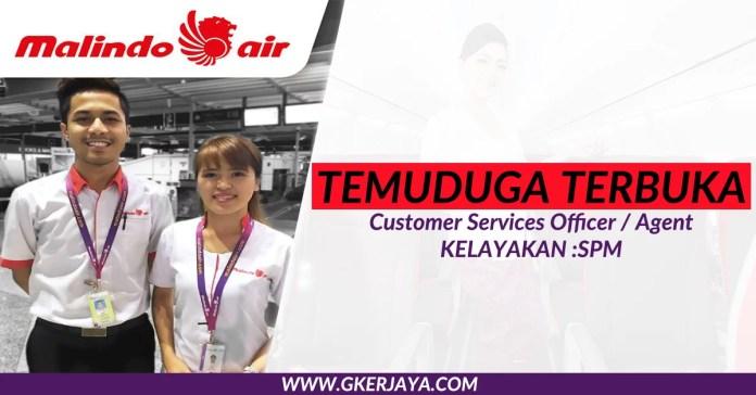 Temuduga terbuka Malindo Air Customer Services Officer