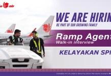 Temuduga terbuka Ramp Agent Malindo Air