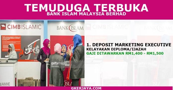 Temuduga terbuka di Bank Islam terkini pelbagai negeri