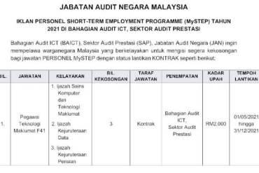 MySTEP Jabatan Audit Negara Malaysia