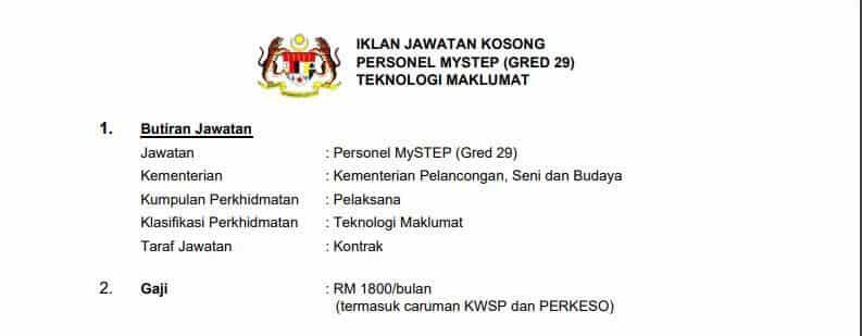 MySTEP Kementerian Pelancongan Seni dan Budaya