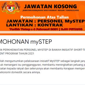 Personel MySTEP Jabatan Kebajikan Masyarakat Negeri Terengganu